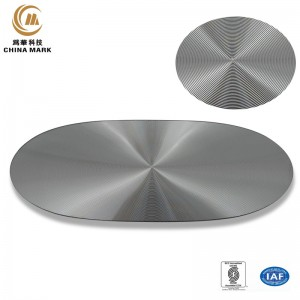 Metallen Nummplack, Oval CD Textur Nummplack |  WEIHUA