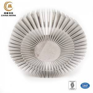Round Heat sink Extrusion,Sun flower Heatsink for Industrial Machinery motherboard Heatsink | WEIHUA