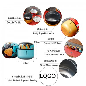 Tinplate gift box 8.5cm x 8.7cm  5 Colors Cylindrical Tin Material Save Money Bank Round Shape Tin Can