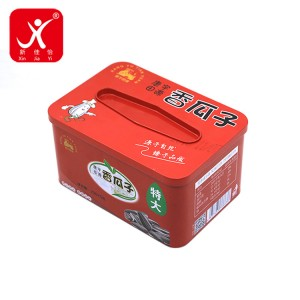 Rectangle shape tin box 16cm x 11.2cm x 8.5cm