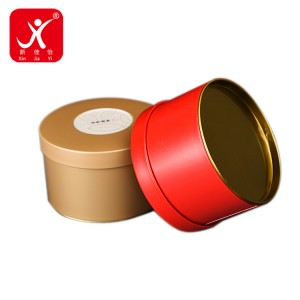 Round shape tin box 10.35cm x 6.6cm