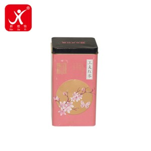 High Quality for Wholesale Coffee Cans - Rectangle shape tin box 10cm x 10cm x 18.2cm – Xin Jia Yi