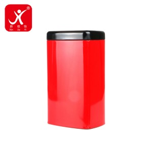 Rectangle shape tin box 9cm x 6.6cm x 15cm