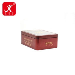 Rectangle shape tin box 13cm x 10cm x 5.2cm
