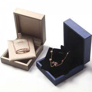 Plastic Products Necklace Packaging Luxury Printed White Jewellery Box