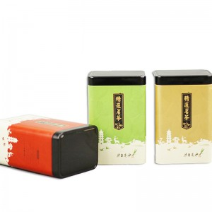 Tinplate gift box 10.5cm*7.5cm*17.5cm 8.8cm*6.7cm*13.6cm 8 Different Styles Food Safe Tin Can