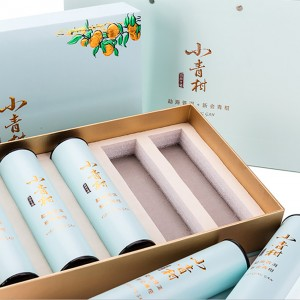 Round Shape paper box  4.5×18.5cm Korea Custom Food Recyclable Cardboard Tube Box Round Paper Tube Can