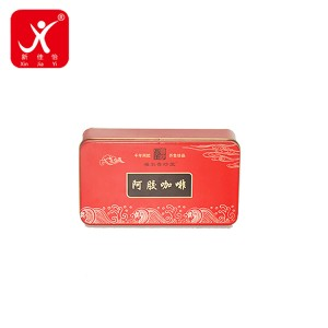 China OEM Tin And Can - Rectangle shape tin box 16.6cm x 9.1cm x 6.5cm – Xin Jia Yi