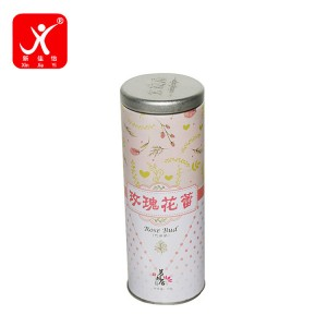 Factory source Coffee Cans With Lids - Round shape tin box 7.3cm x 16cm – Xin Jia Yi