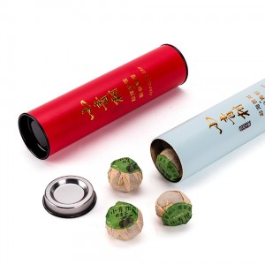 Round Shape paper box  4.5×18.5cm Food Canning Fish Telescopic Food Grade Cardboard Tube Packaging