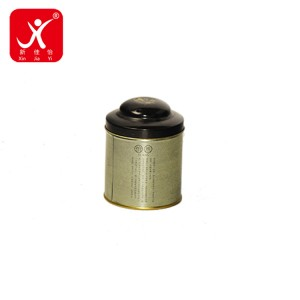 Online Exporter Small Square Metal Tins - Round shape tin box 8.9cm x 11.9cm – Xin Jia Yi