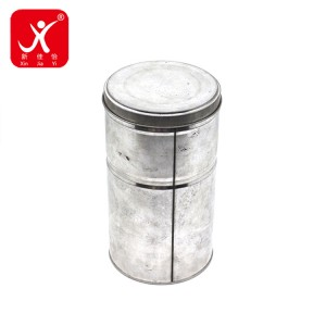 Round shape tin box 9.97cm x 18cm