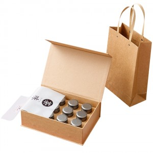 Tinplate gift box 4.5cm x 7cm Xin Jia Yi Packaging Rectangular Vintage Black Hinged  In Stock Tin Cans