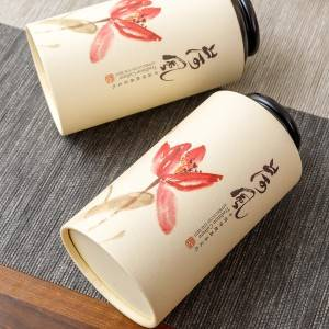 Round Shape paper box 9.9*19cm  8.3*16cm  7.3*16cm Eco Friendly Recyclable Paper Tube With Plastic Lid Packaging Paper Cans