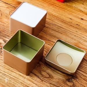 Tinplate gift box 10.35×6.8cm 9.4×9.4×7.6cm Spout Lid Massage Candle Tin Can