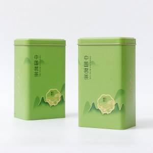 Tinplate gift box 10* 7.5* 17cm Manufacture Small Plastic Lid With Label Sticker Tin Can