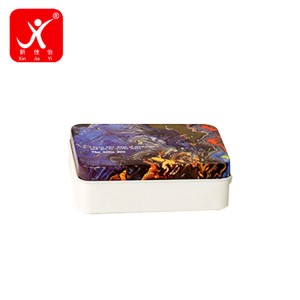 Rectangle shape tin box 9.3cm x 6.6cm x 3.2cm