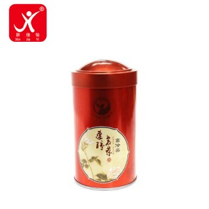 Factory wholesale Small Tin Box With Hinged Lid - Round shape tin box 8.3cm x 15.5cm – Xin Jia Yi