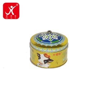 Round shape tin box 12.6cm x 7.4cm