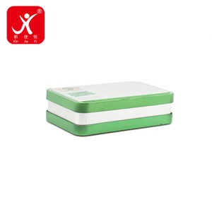 Factory making 3 Gallon Tin Can - Rectangle shape tin box 13cm x 8cm x 3.8cm – Xin Jia Yi