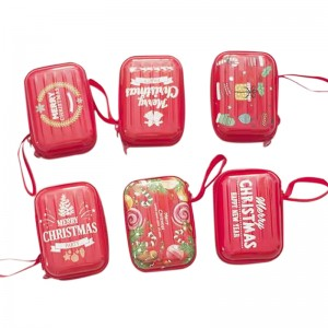 Tinplate gift box 9.9cm x 7.2cm x 4.3cm  Metal Christmas Candy Cockies Tin Can