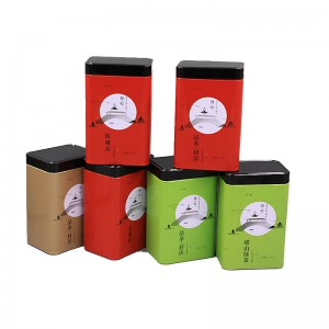Tinplate gift box 10.5cm*7.5cm*17.5cm 8.8cm*6.7cm*13.6cm  Customized Coffee Can Chocolate Box Food Tin Can