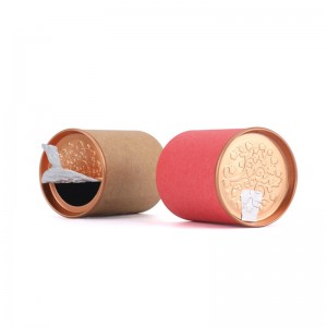 Round Shape paper box 4.5cm x 5.7cm Direct Eco friendly Tube Packaging  Eva Round Packaging For Perfume Paper Can