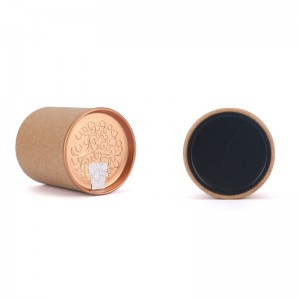 Round Shape paper box 4.5cm x 5.7cm Eco-friendly Tube Packaging Round Packaging Paper Can