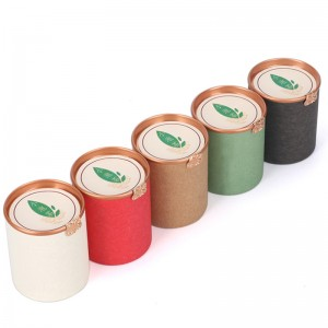Round Shape paper box 4.5cm x 5.7cm Food With Plastic Lid Eco Friendly Recyclable Paper Tube Packaging Paper Cans