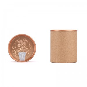 Round Shape paper box 4.5cm x 5.7cm  Food Packaging Can Kraft Paper Tube Paper Can