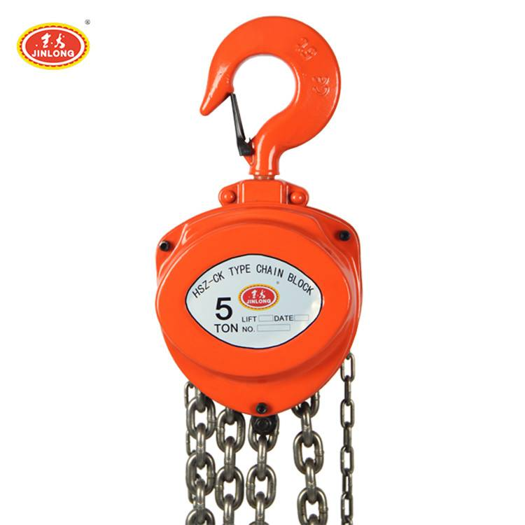 CE Approved HSZ-CK 5T manual Operated Heavy Duty Hand Chain block