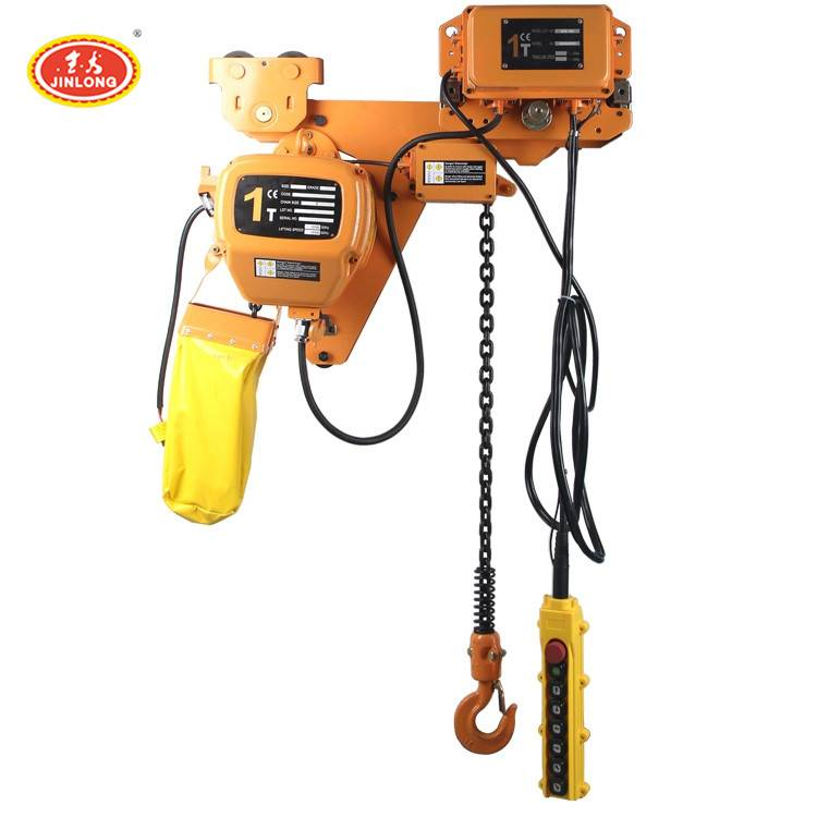 china mini 500kg 1.5 2.5 3 7.5 ton 2ton 220v electric chain hoist with trolley