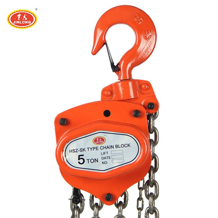 5ton 3m Heavy Lifting SK type Chain Hoist Pulley Block with Safety Hook