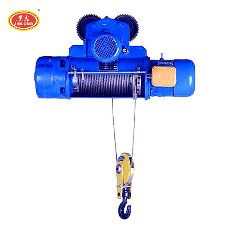 low noise 2 ton wire rope electric wirerope winch hoist