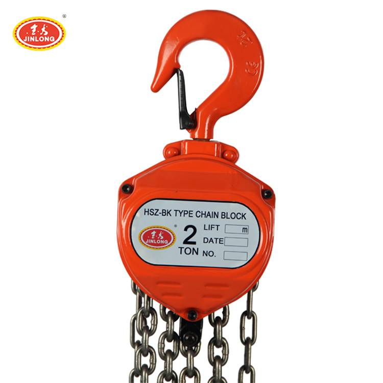 Top quality hot selling Safety 2 ton manual chain block made in China