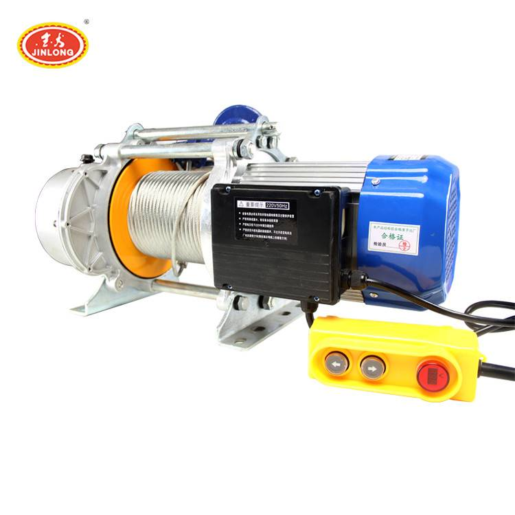 1 ton 2500kg 240v mini electric motor operation lifting device winch crane hoist