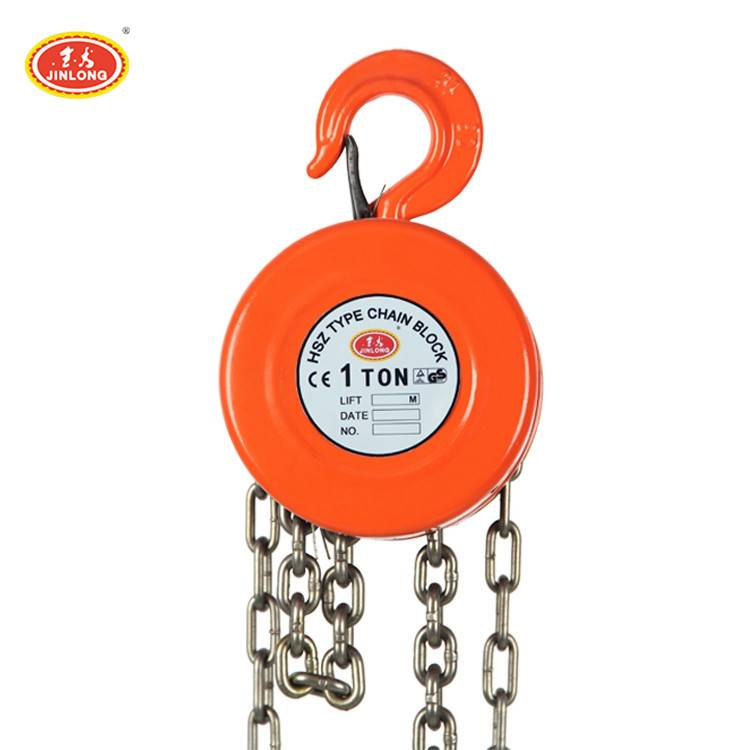 hs type 1000kg 1 1.5 2 3 6 10 20 ton vital hand chain pulley block for lifting