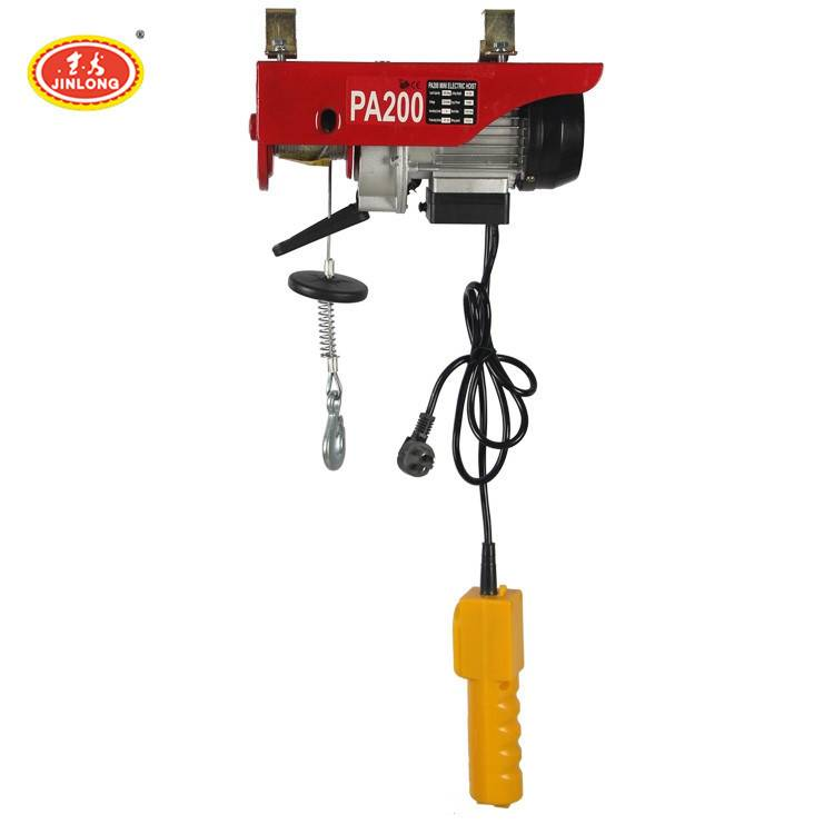 european pa1200 100kg 200kg lifting machine wire rope electric hoist with remote controller