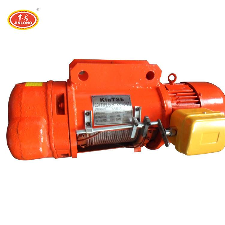 cd md small overhead ac 1ton 3t 5t electric chain hoist crane for workshop