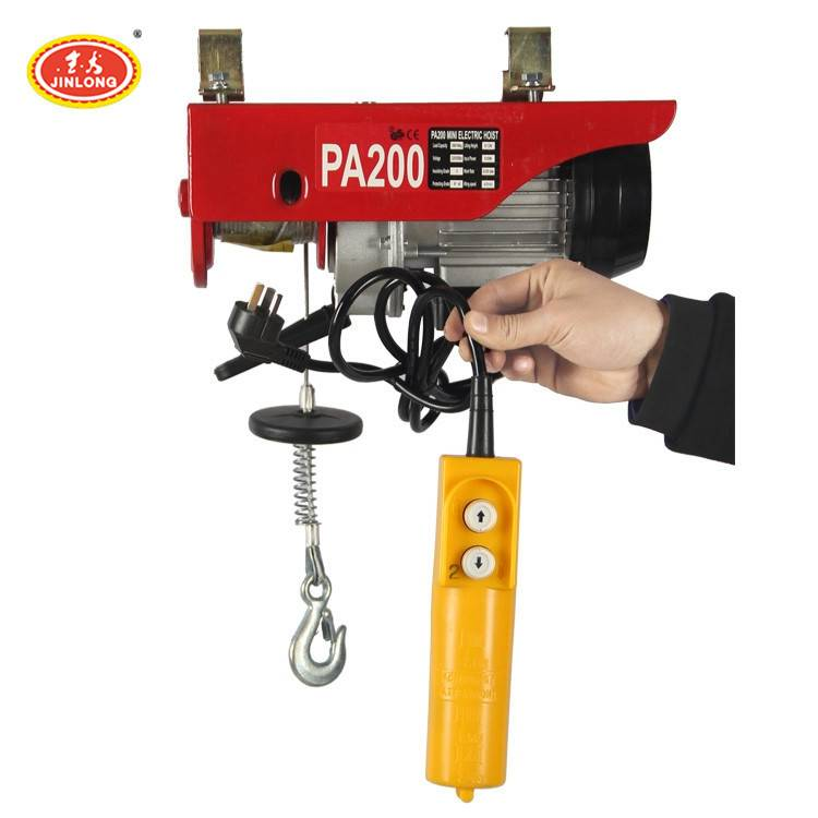 200kg micro pa500 pa800 220v 500 1000 kg wire rope electric hoist winch crane