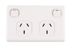 250V 10A Double switch socket powerpoints Australia standard SAA approval