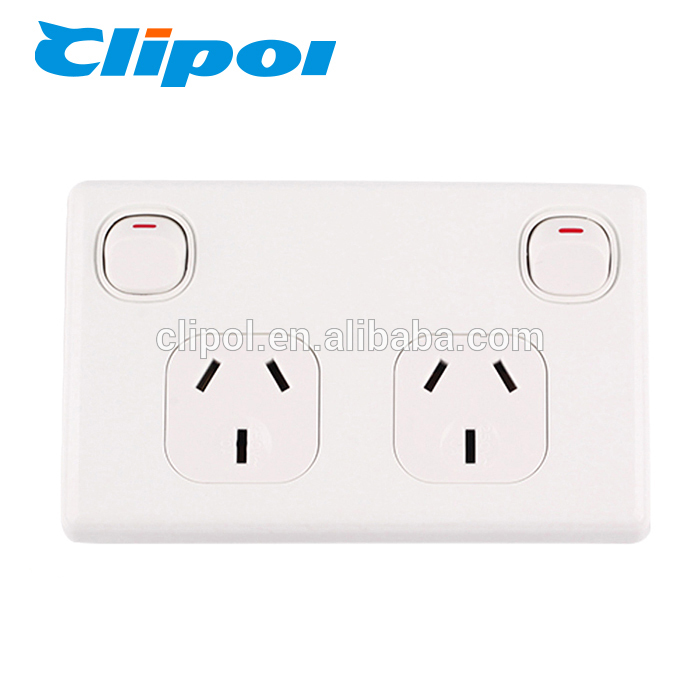 Electrical sockets switches safe home double gang wall socket switch