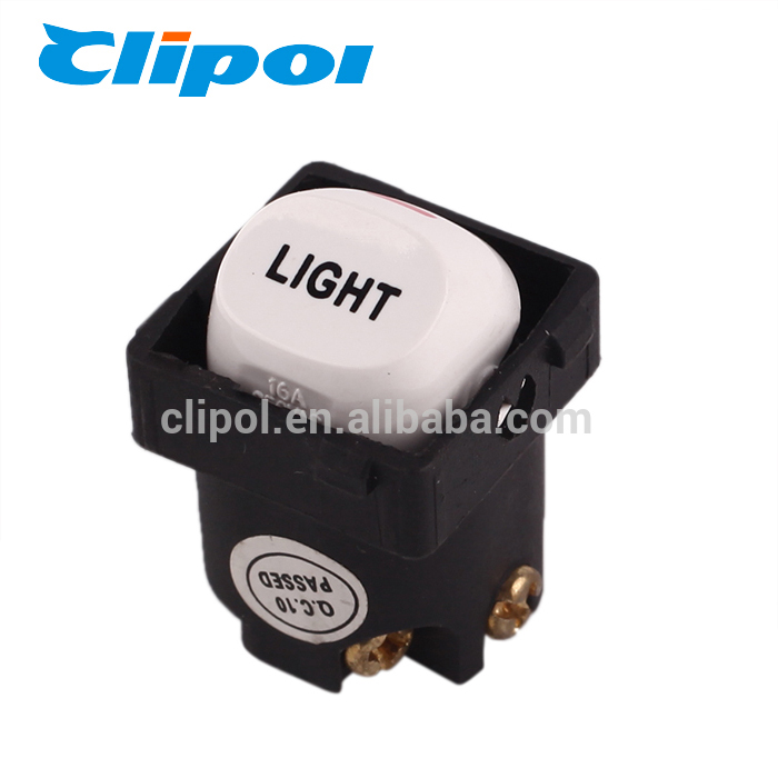 Microswitch customized button switch with light , PC 250V 16 amp push button switch manufacturer