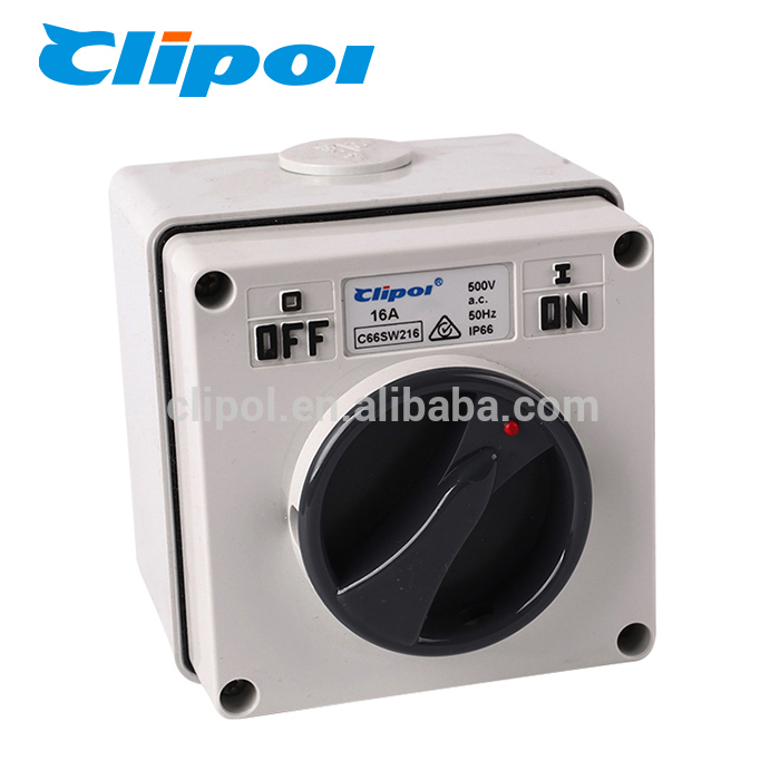 Rotate switch AC 2 Pole waterproof pc IP66 electrical isolator rating