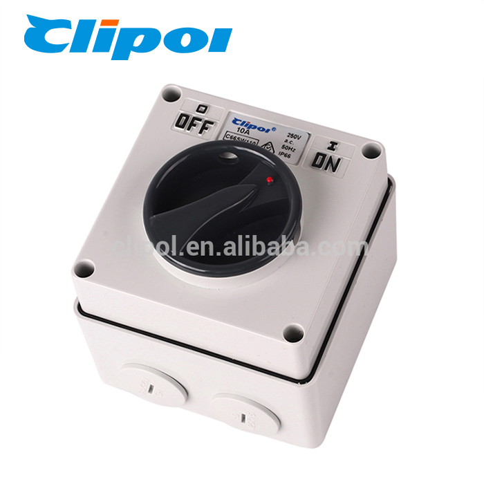 On off switch IP66 against rain rotary 250v surface electric switch