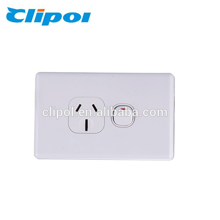DS613 250V 10A SAA approved single GPO wall socket