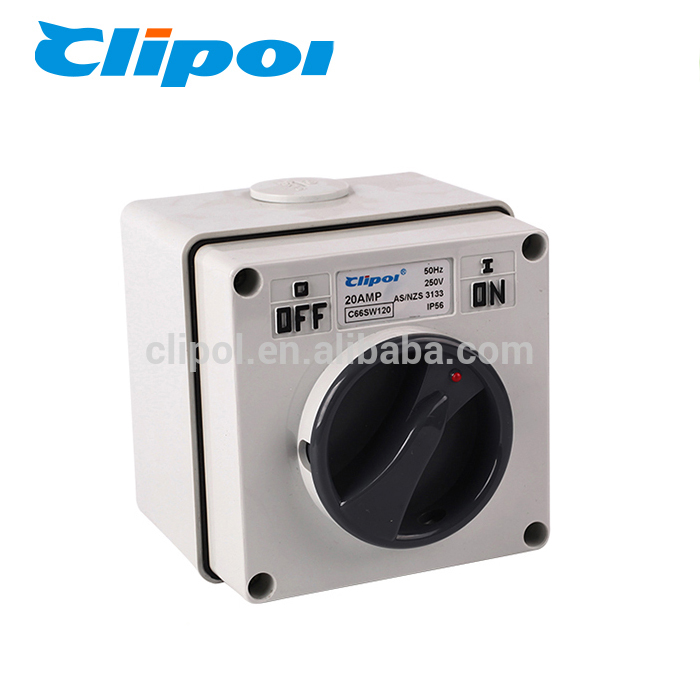 Australia SAA IP56 1Pole Insulating Electrical Rotary Switch
