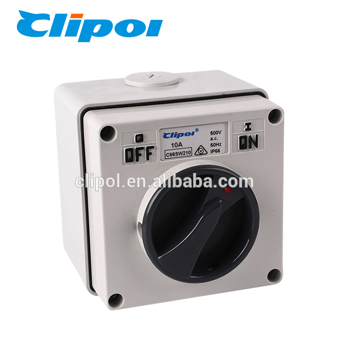 Industrial switch air conditioner waterproof double pole rotary switch
