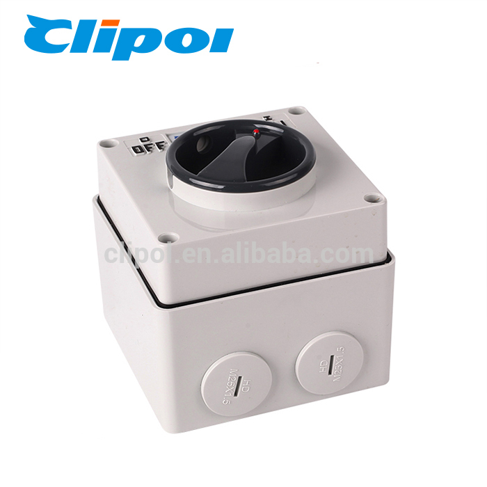 Rotating switch 16A 250V fireproof electric single pole rotary switch