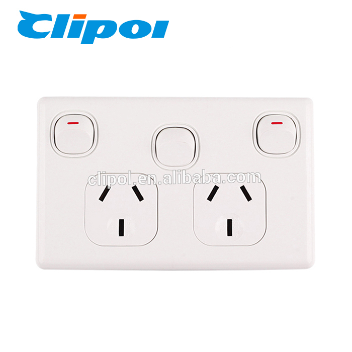 New design 250V 10A pc universal wall electric switch and socket